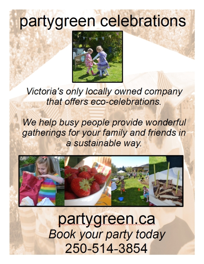 sustainable green parties in Victoria BC kid's partygreen celebrations
