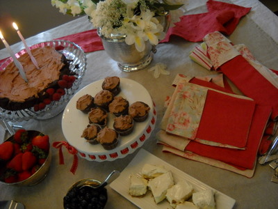 birthday tea in victoria BC with linen napkins and homemade goodies