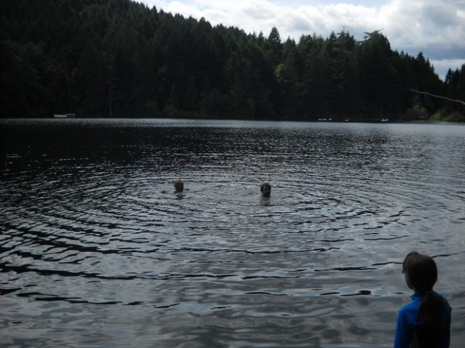 swimming in Durrance Lake