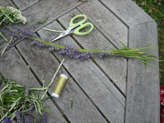 making a lavender wreath Victoria BC
